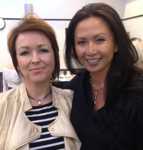 Tracey with Michelle Doan, Us creator and CEO of Emani Makeup